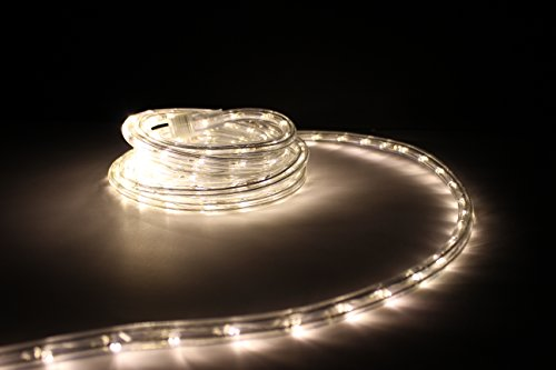 10ft rope lights soft white led rope light kit 1 0 led spacing